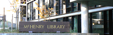 McHenry Library Exterior Sign