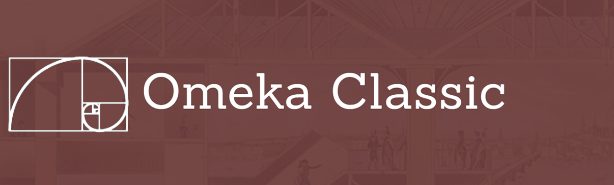 Omeka Classic logo with Fibonacci sequence