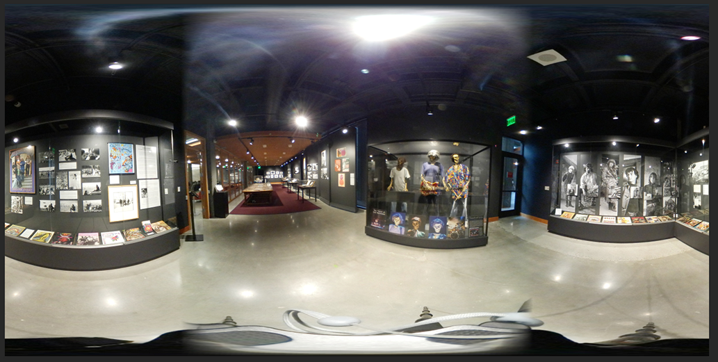 Stretched 360 photo of the Grateful Dead space