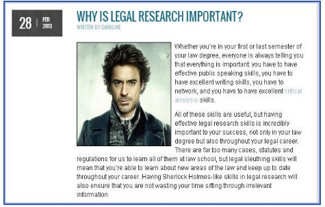 Blog: Why is legal research important?