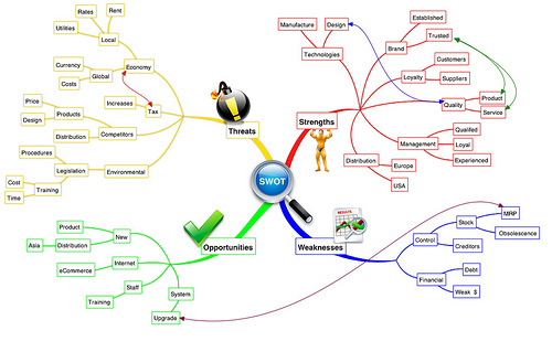 Mind map created using software