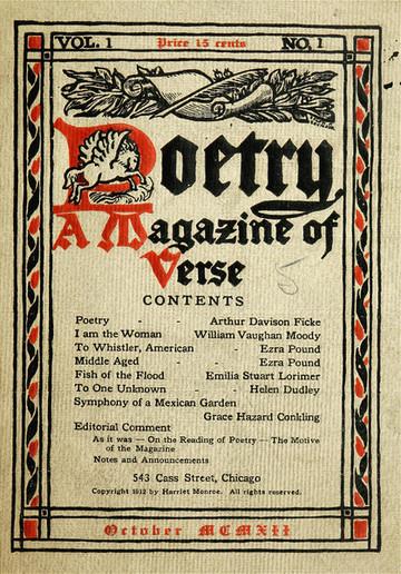 Cover of Poetry Magazine circa 1912