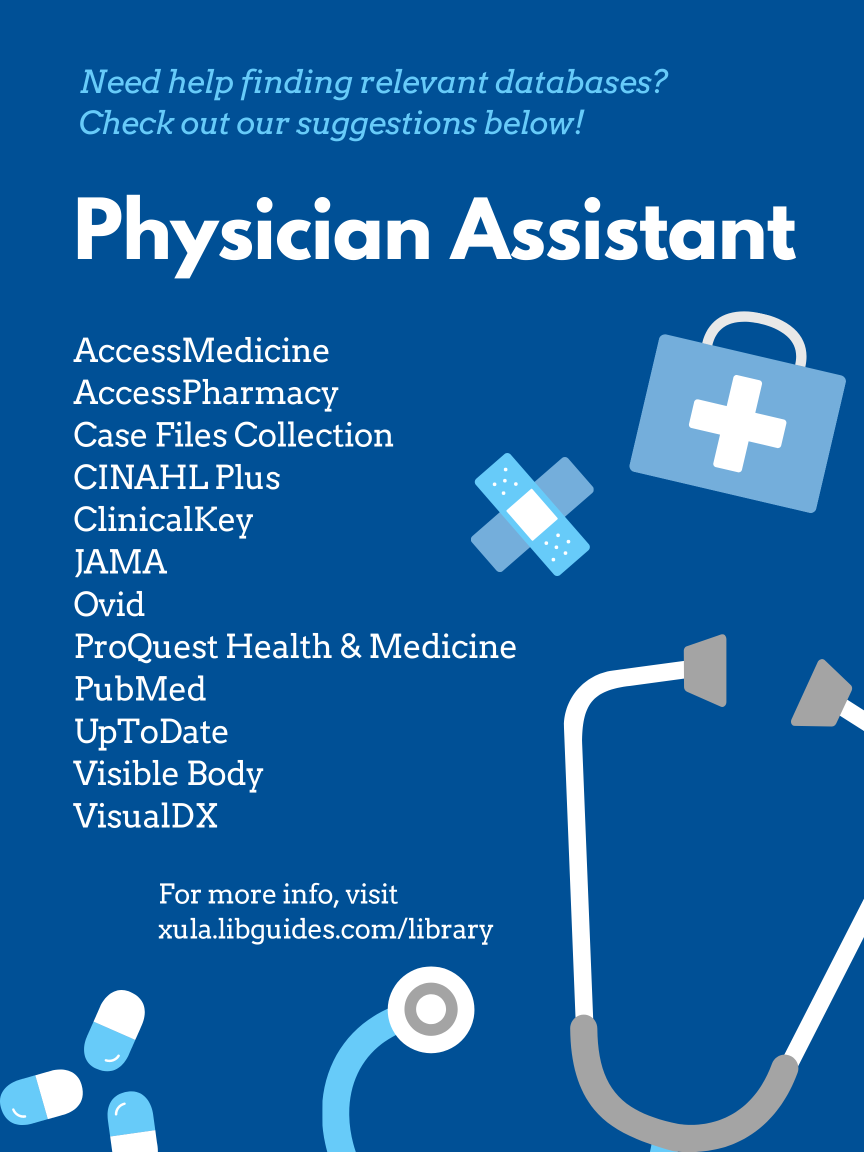Physician Assistant Databases
