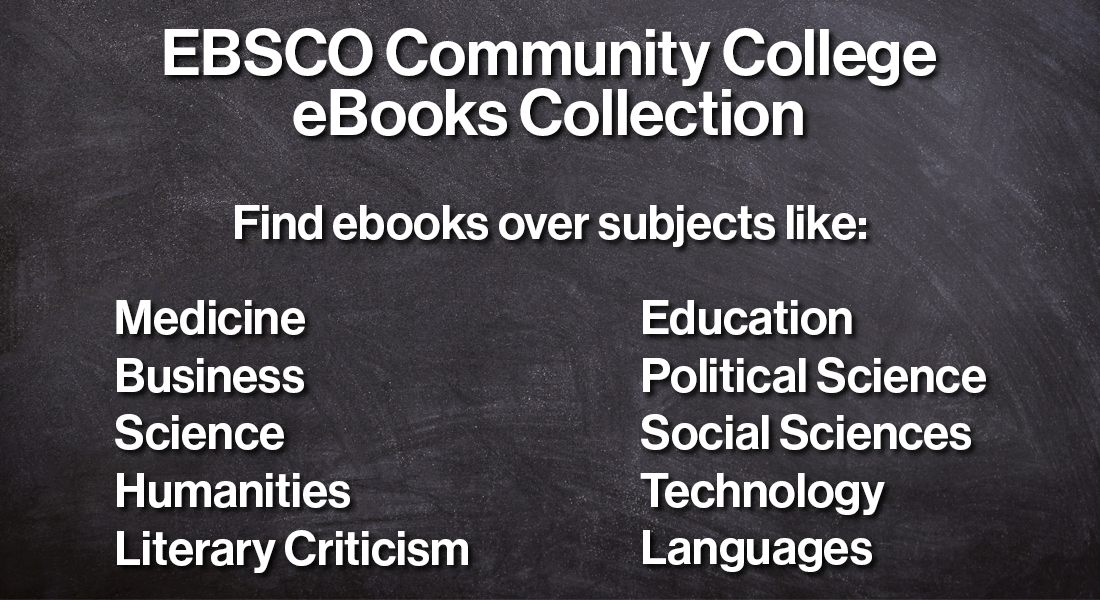 search the ebsco communit college ebooks collection