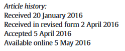 Article history: Received, received in revised form, accepted, and available online.