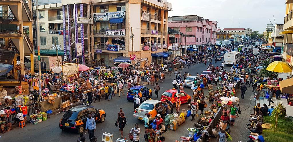 Accra, Ghana city view