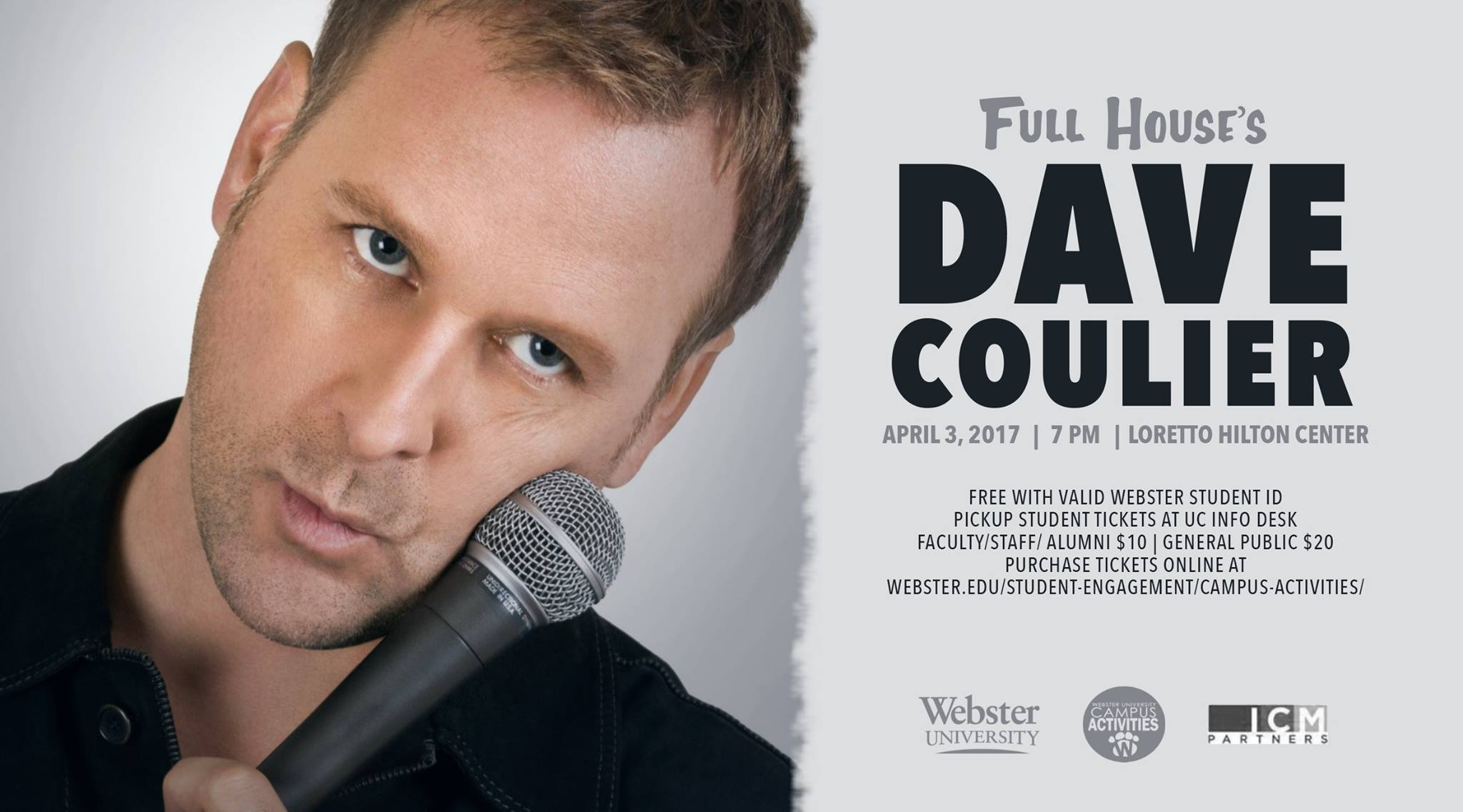 Dave Coulier Webster University campus event