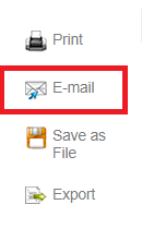 E-mail icon in the toolbar located in EBSCOhost folder