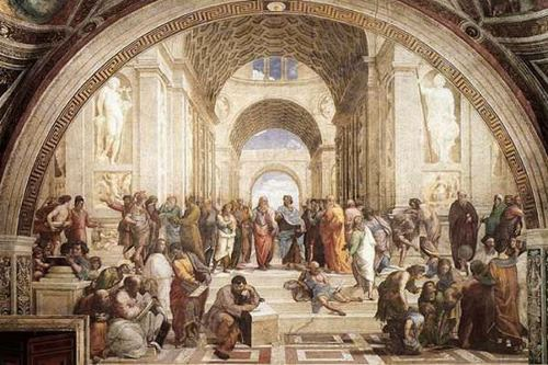 """""""The School of Athens"""" painting Raphael"""