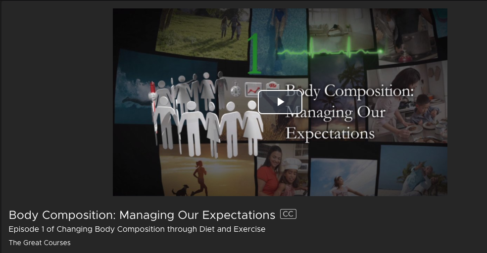 Managing Our Expectations: Body Composition Kanopy Streaming Media