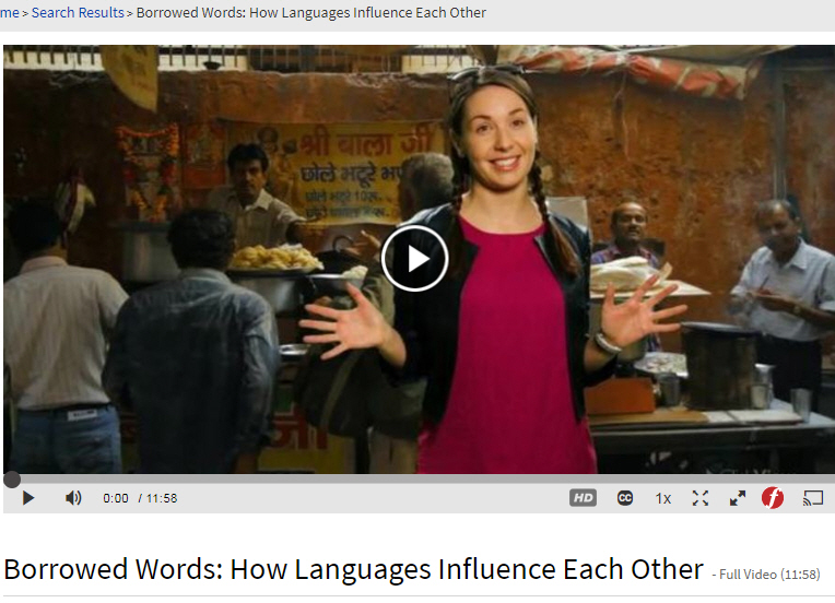 Film on how borrowed words and languages