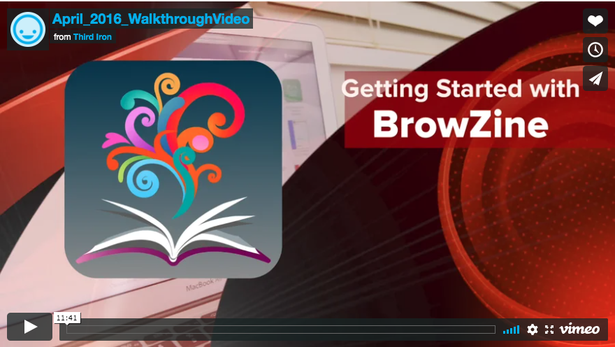 Getting started in browzine video