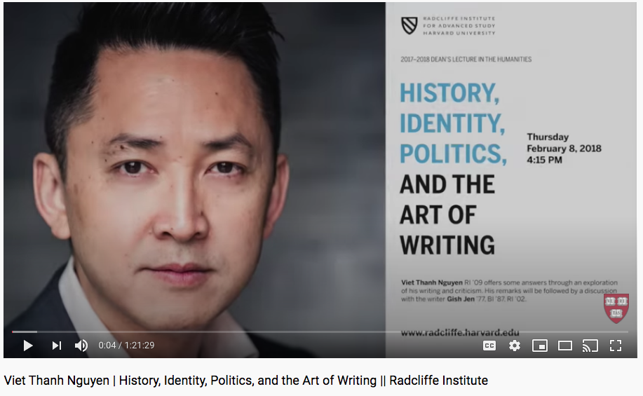 History, identity and politics and the art of writing video