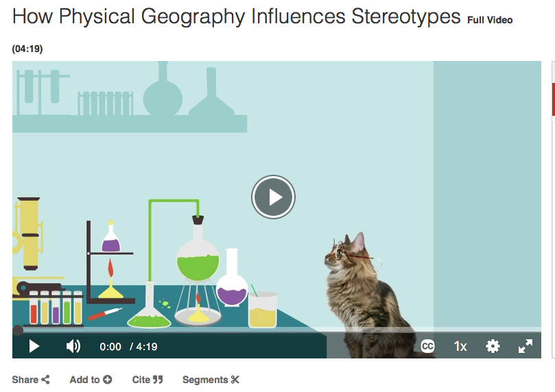 How Physical Geography influences stereotypes