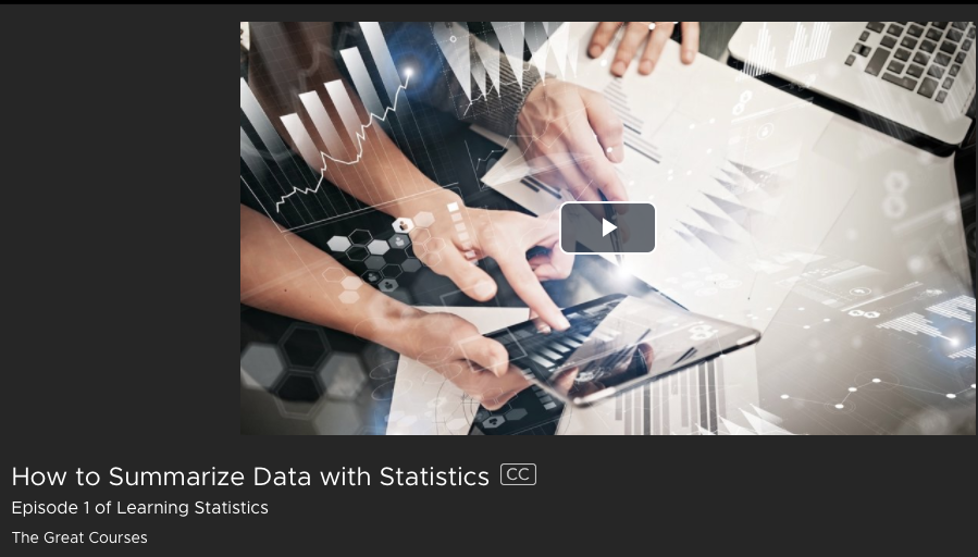 How to Summarize Data with Statistics from Kanopy Streaming Media