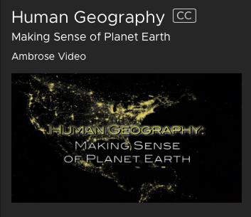 Human Geography film