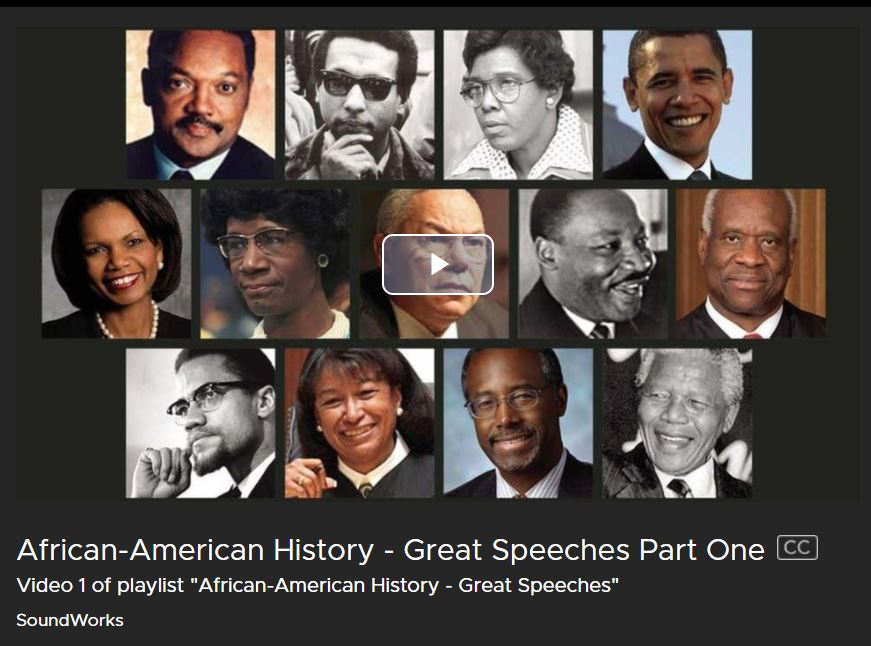 African American Speeches from Kanopy Streaming Media