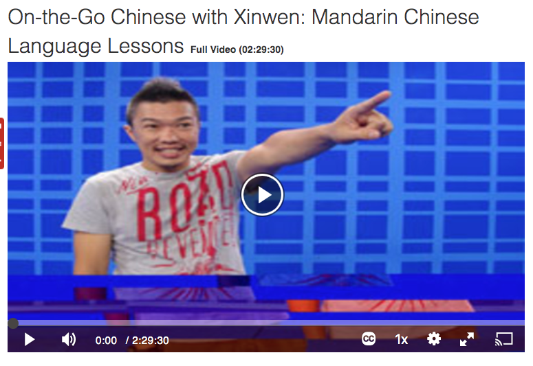 On-the-Go Chinse with Xinwen: Mandarin Chindse