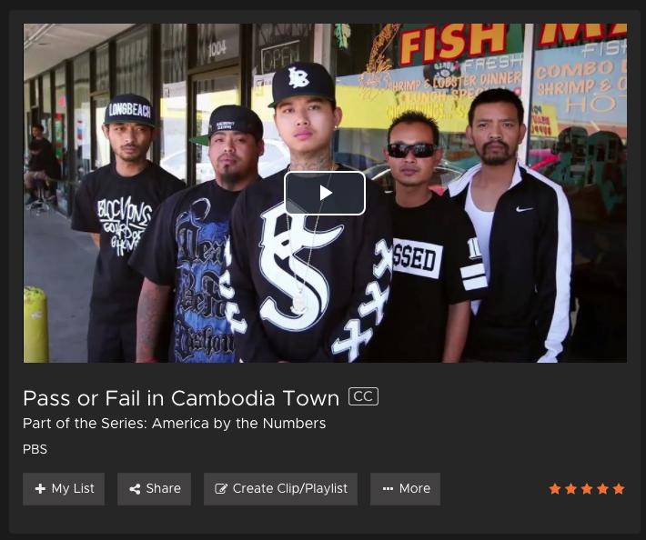 Pass or Fail Cambodia Town