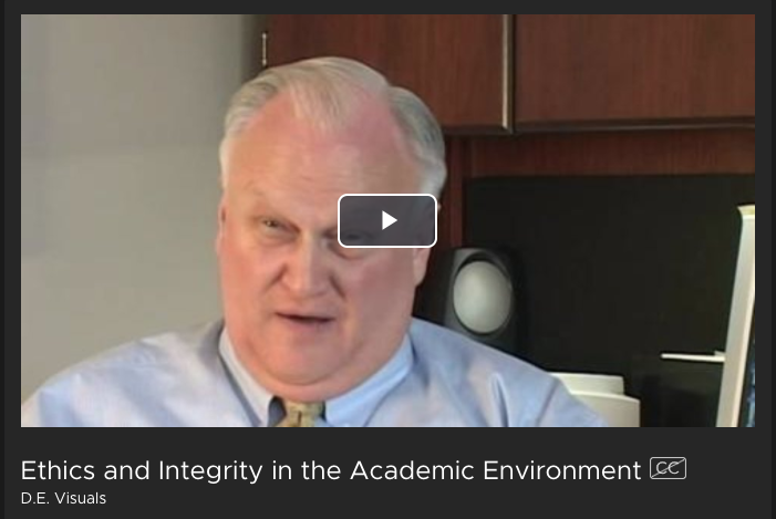 ethics and integrity in the academic environment film
