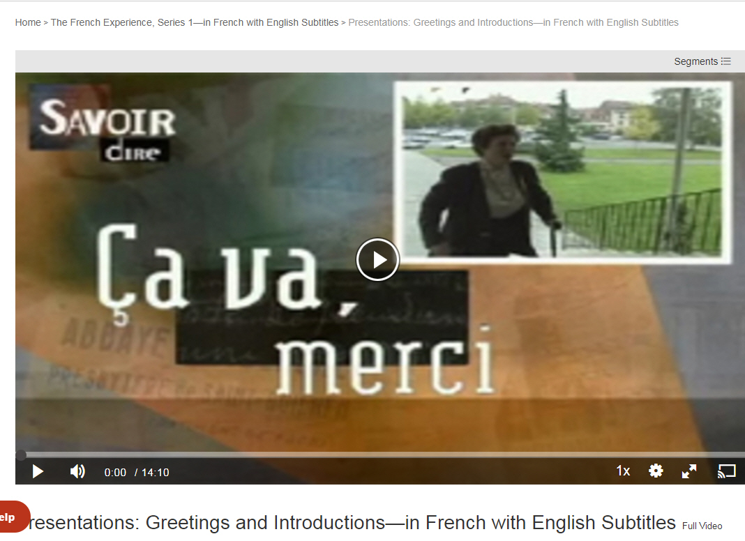 french experience video series
