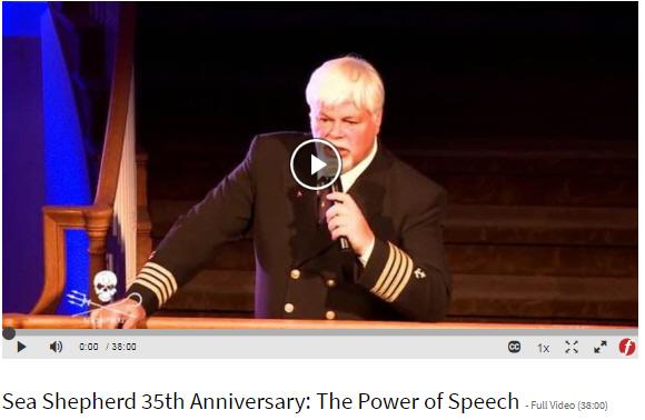 Sea Shepherd 35th Anniversary: The Power of Speech
