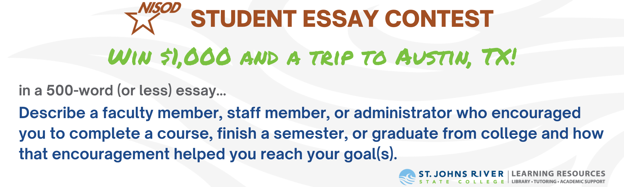 NISOD Student Essay Contest