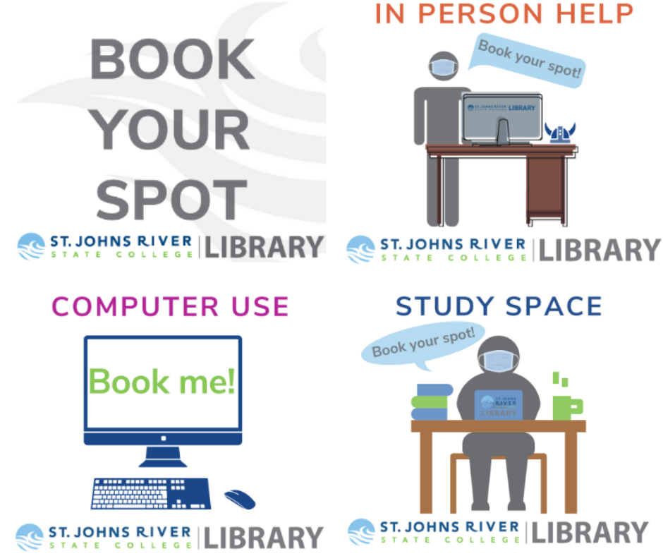 Book your spot for in-person help, computer use, or a study space at the library