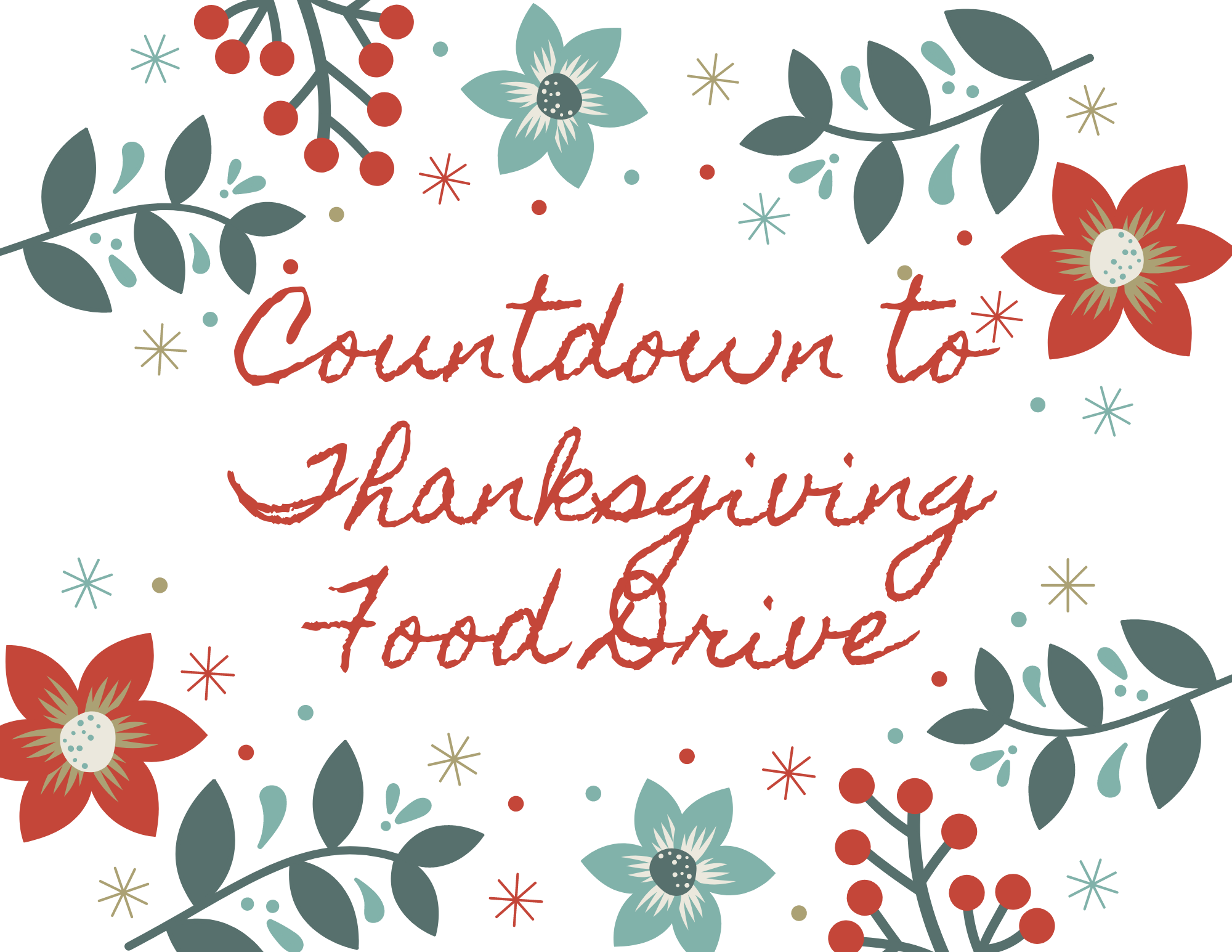 Countdown to Thanksgiving Food Drive