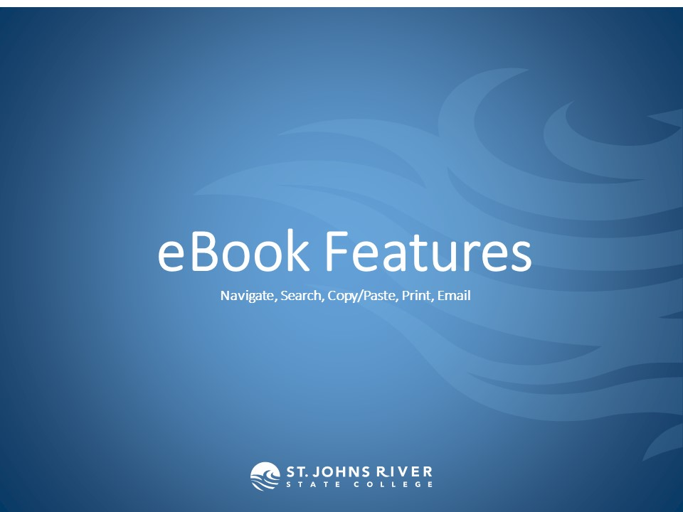 eBook Features