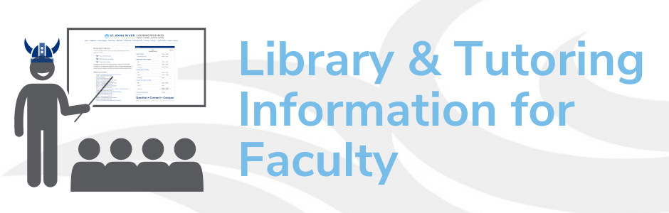 Learning Resources information for faculty