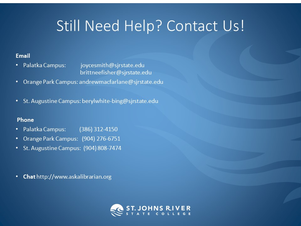 Still Need Help? Contact Us!
