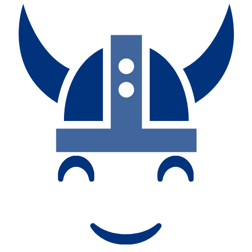 illustration of a smiley Viking