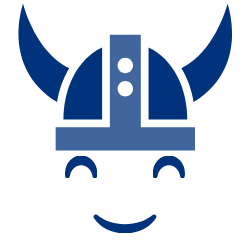 smiley viking face