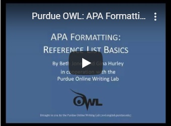 OWL APA Reference List Basics Video