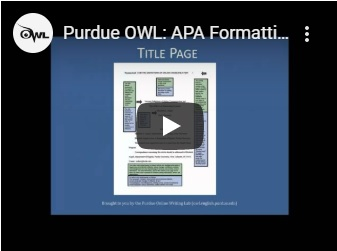 Purdue Owl APA the Basics Video