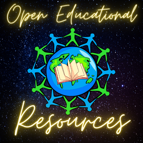 People around the world with a book in center.  Open Educational Resources