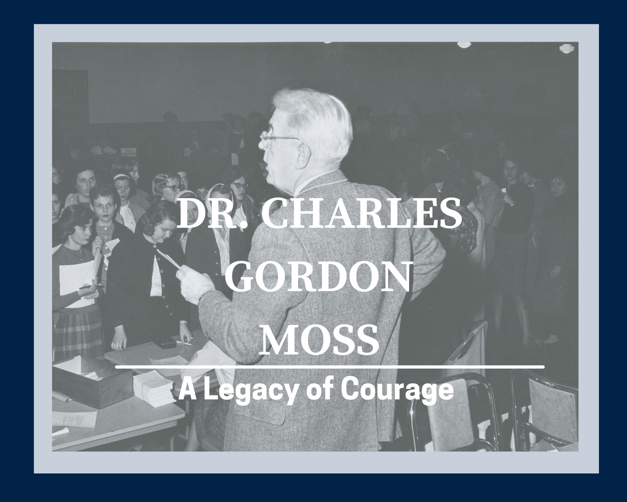 Charles Gordon Moss lecturing