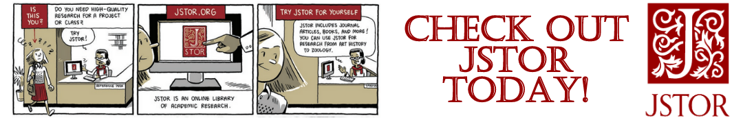 JSTOR Comic strip with link to JSTOR