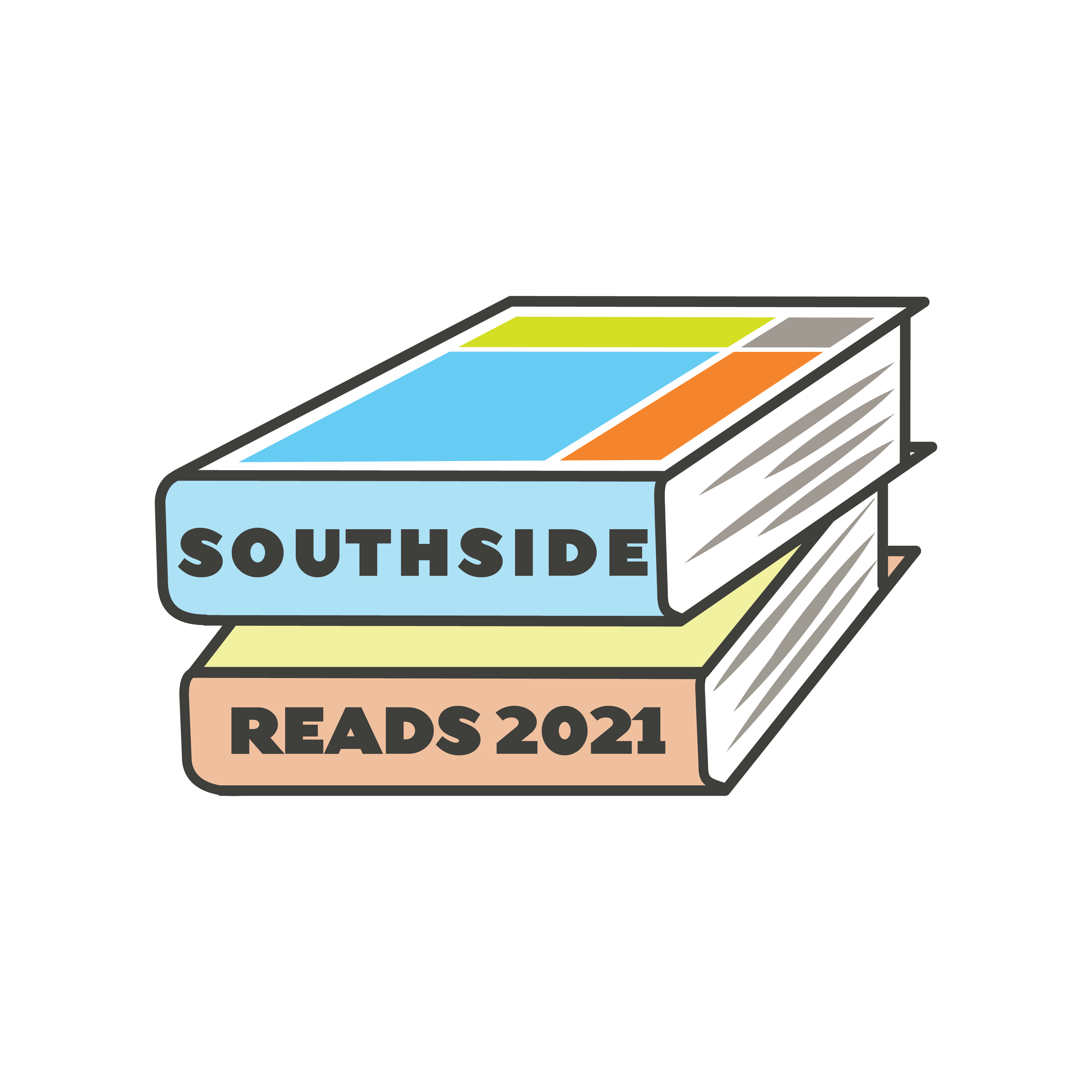 stack of books with Southside Reads 2021 on the spines