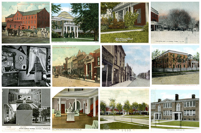 collage of Longwood postcards