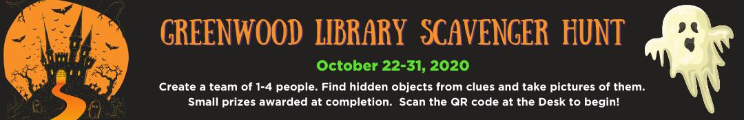 Greenwood Library Scavenger Hunt 2020