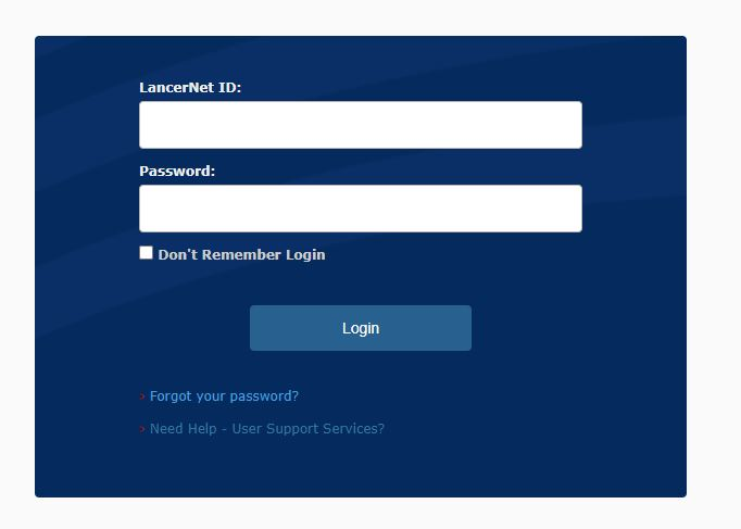 Login with LancerNet ID and password
