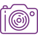 Link to recommend equipment, picture of camera icon