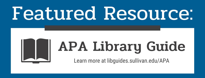 APA Citation Library Guide