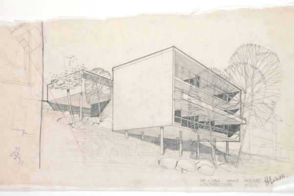 [PICTURE] Harry Seidler collection of architectural drawings (Tube No: 60 -- Waks 2 House, Lot 11, Minimbah Road, Northbridge, NSW) [Catalogue IE Number:  IE146048 / File Number: FL146050]