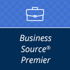 Logo for Business Source Premier database.