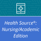 Logo for Health Source: Nursing/Academic database.