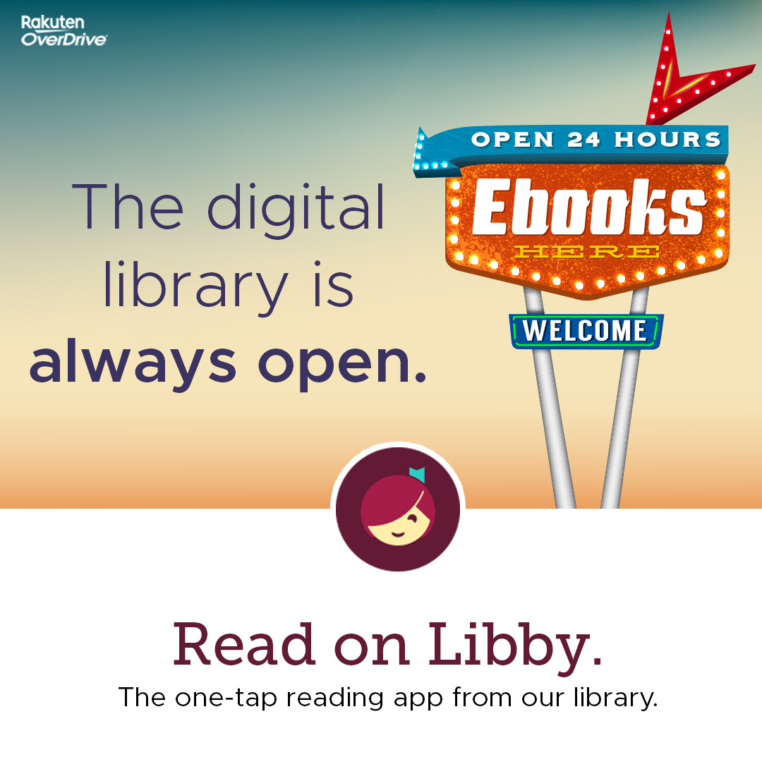 Libby app by OverDrive, for ebooks and audiobooks