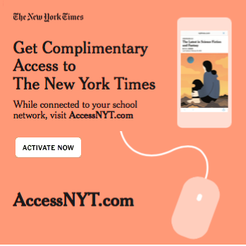Link to register an account at New York Times